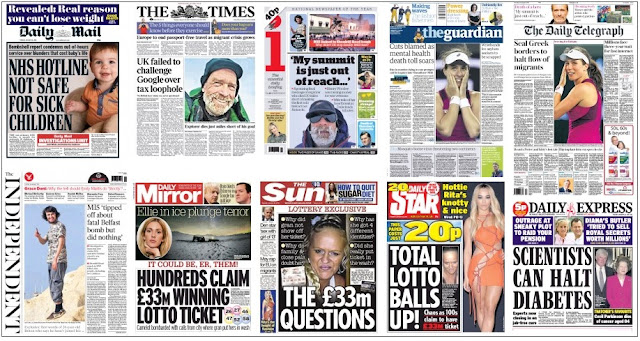 front pages jan 26