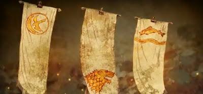 Banderas rebelión Robert Baratheon Stark Arryn Tully - Juego de Tronos en los siete reinos