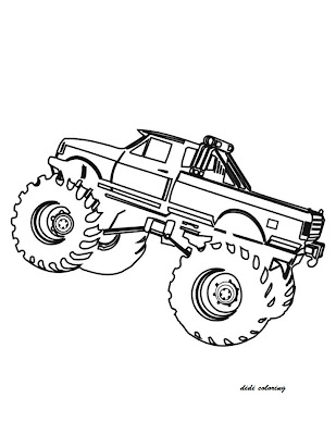 Printable Truck Coloring Pages for Boys
