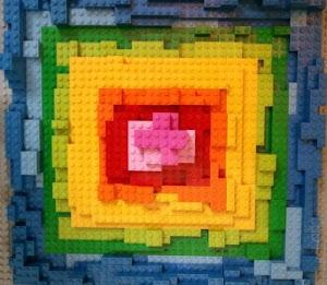 Lego quilt block