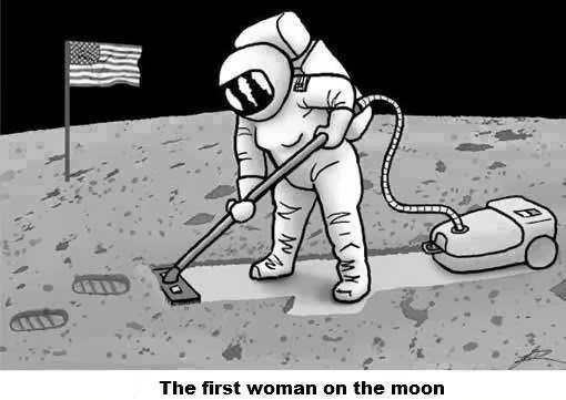 funny pictures, moon, woman, tapandaola111