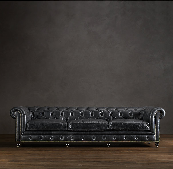 Kensington Leather Sofa In Vintage Cigar. Price $12,095 (plus Shipping And  Handling)