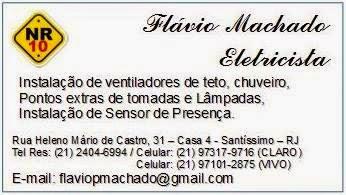 Flávio Machado Eletricista -Serviços de eletricidade em Santíssimo