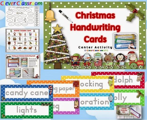 Christmas Handwriting Cards Center Activity Polka Dot Theme