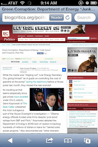 "April 2012 -- Green Corruption: Department of Energy ""Junk Loans"" and Cronyism, Part One"