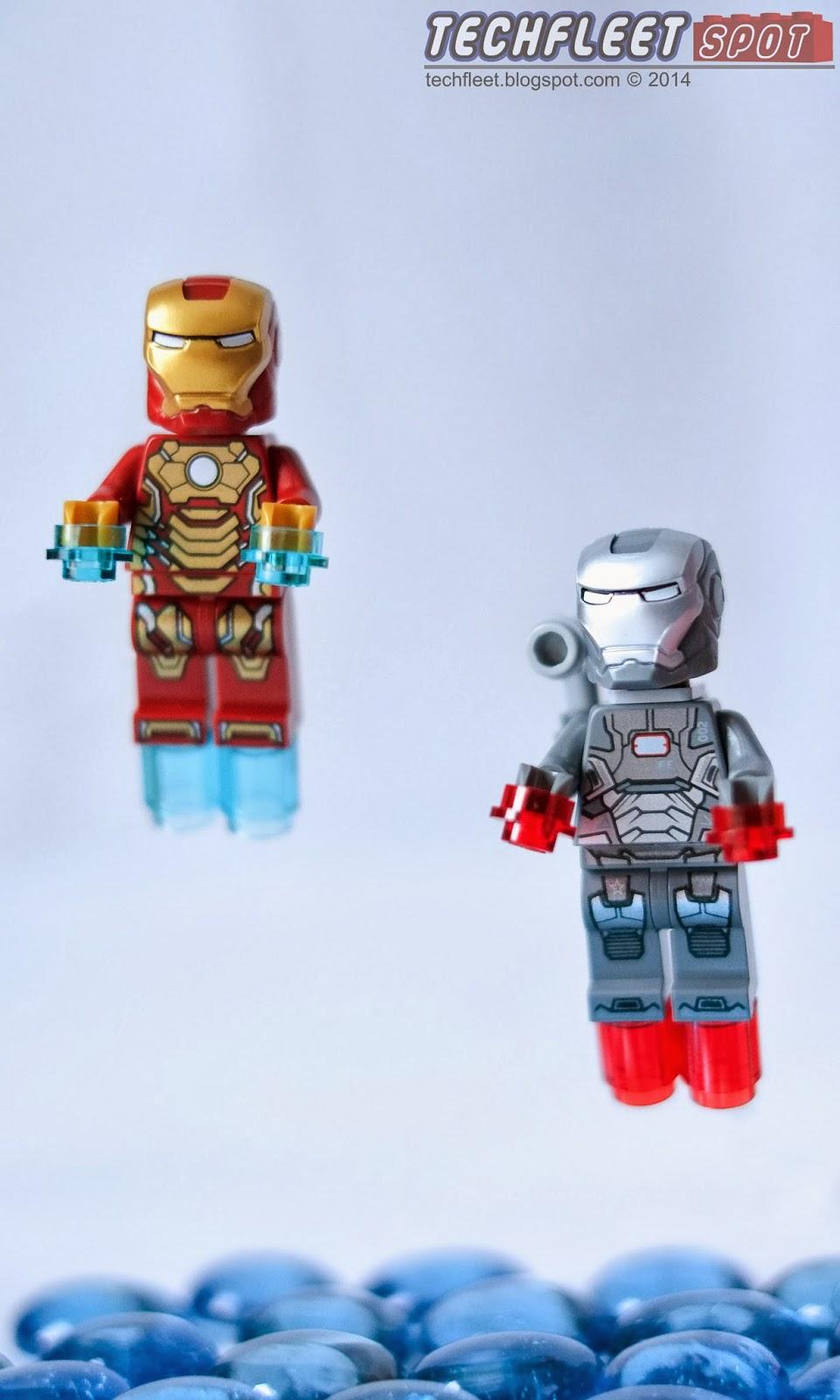 techfleet spot lego iron man mark 42 armor and war