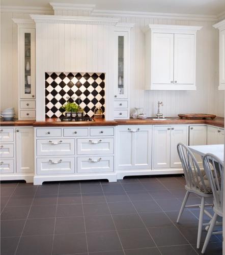 Cocina inspirada en el estilo tradicional ingl s - Cocinas estilo ingles decoracion ...