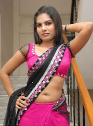 Neelam Sheety Latest Hot Stills in pink saree looking hot and sexy navel show cleavage show long black hair lady desi indian girl