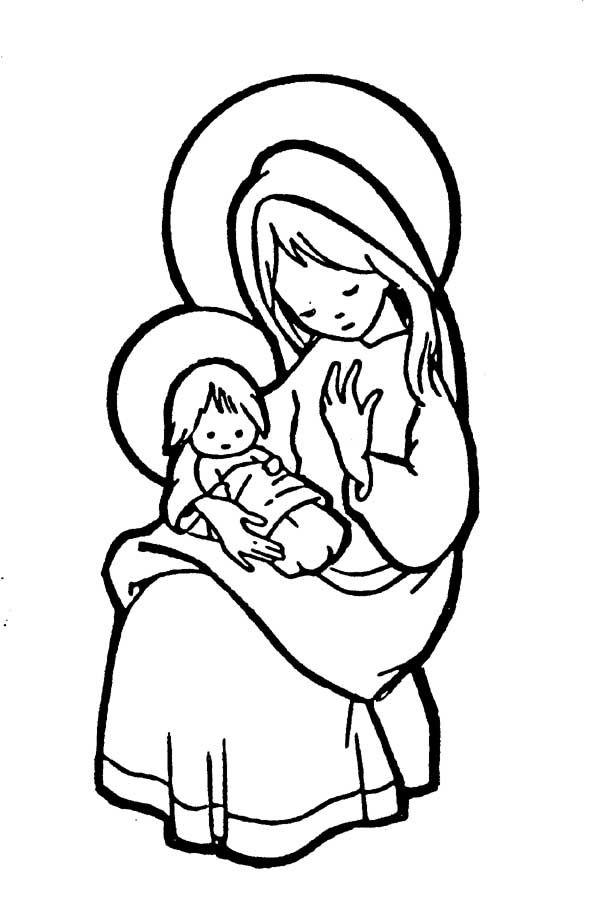 Gifs y Fondos Paz enla Tormenta ®: IMÁGENES VIRGEN MARÍA PARA COLOREAR