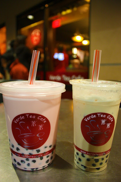 Large Boba Tea Strawberry Banana Drink Calories