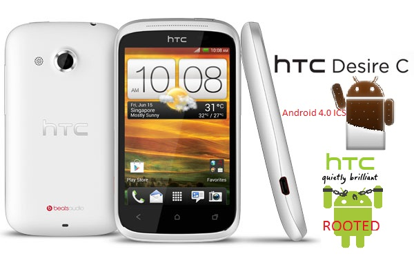 how to root htc desire c android 4 0 ics with superboot