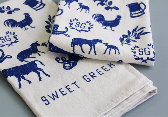 Greek culinary shop in Australia, Sweet Greek, identity design by Studio Brave. #graphicdesign #branding