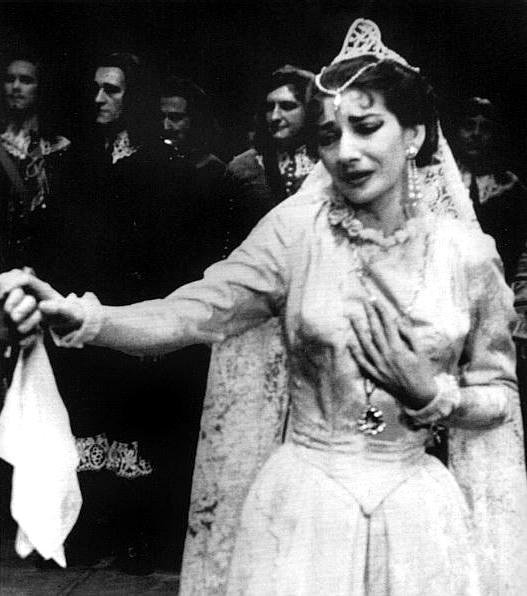 Maria Callas On Stage Above, callas as elvira in i