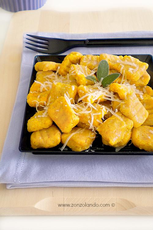 Gnocchi di zucca al burro ricetta facile e light and easy pumpkin gnocchi recipe