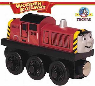 Island of Sodor model toy wooden railway Salty the dockyard diesel engine stories of the deep ocean