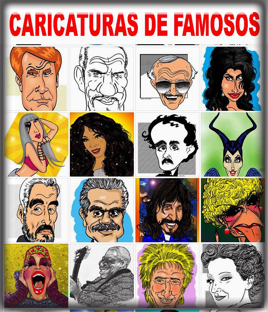 Caricaturas de famosos Marcelo Martins caricaturista
