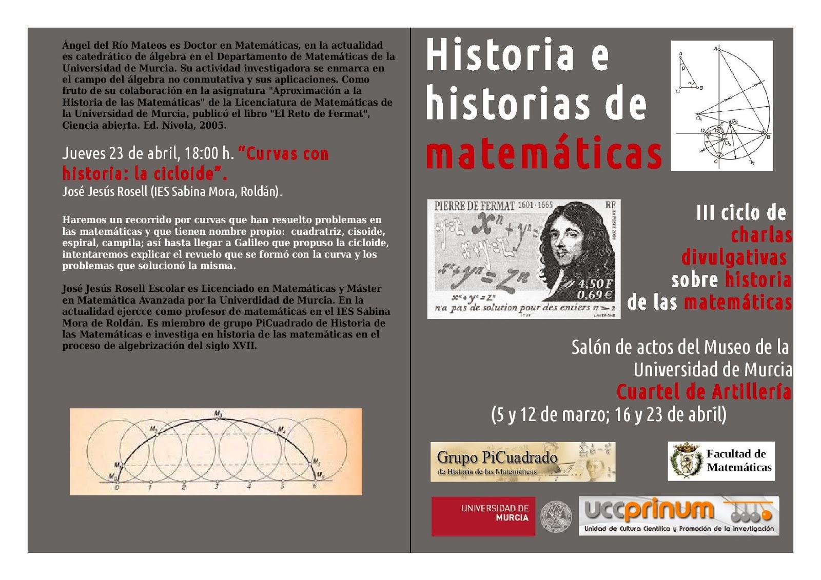 III ciclo de conferencias divulgativas sobre Historia de las Matemáticas.
