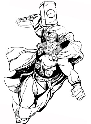 Printable coloring pages of thor for Marvel thor coloring pages