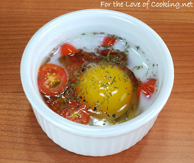Baked Egg with Tomato and Dill