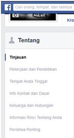 Mengubah profil fb