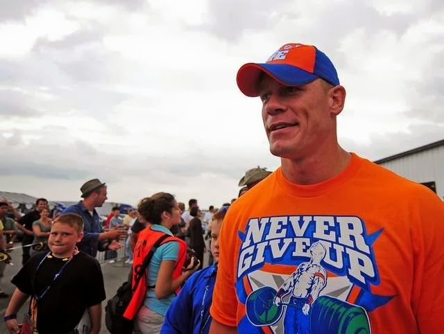 WWE superstar John Cena was among those at today's announcement of WrestleMania XXX coming to New Orleans.