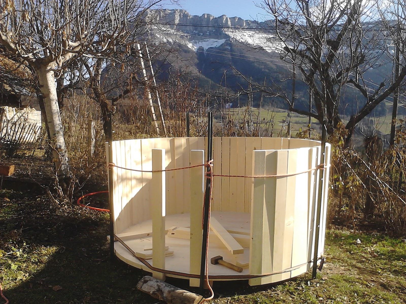 En chartreuse fabrication d 39 un bain nordique au gite l 39 cole - Fabriquer bain nordique ...