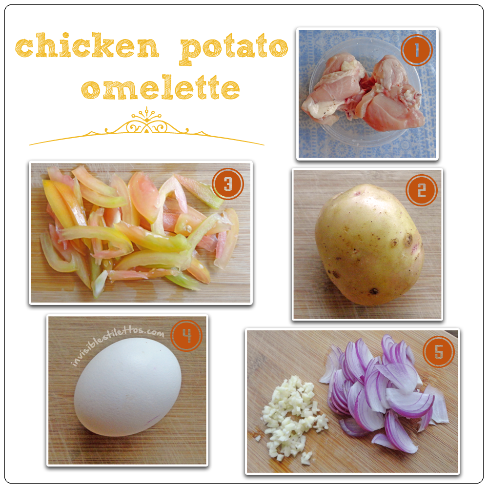 Chicken Potato Omelette