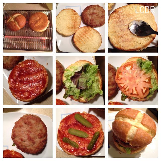 Receta de filetes rusos rellenos de queso en pan brioche 4