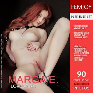 "Marga E. - ""LoveSpirit"" Femjoy cover (AKA Micca, Michelle H, Naomi) sexy redhead nude"