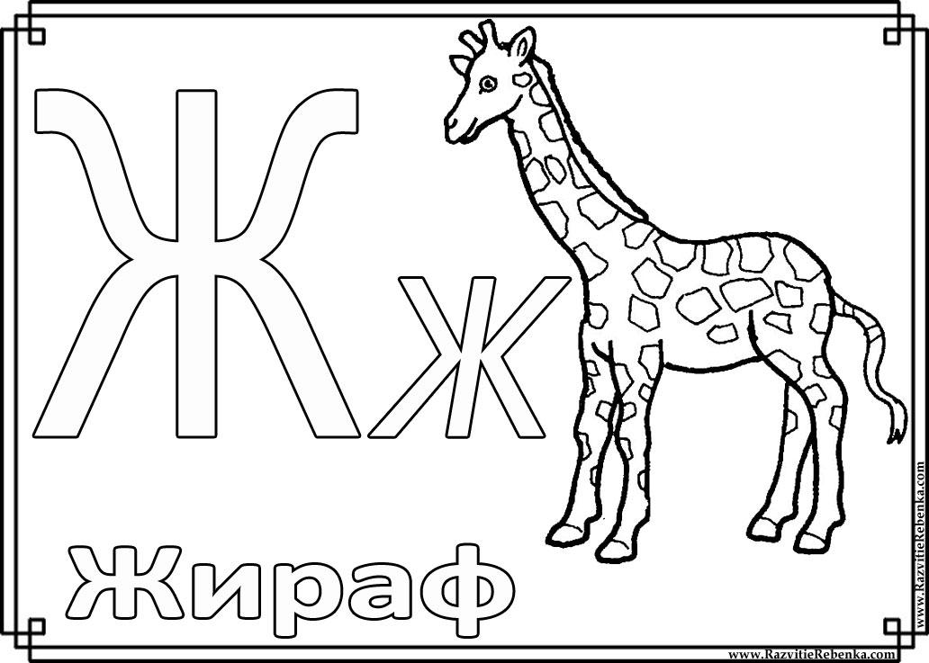 Раскраски алфавит для детей - 6