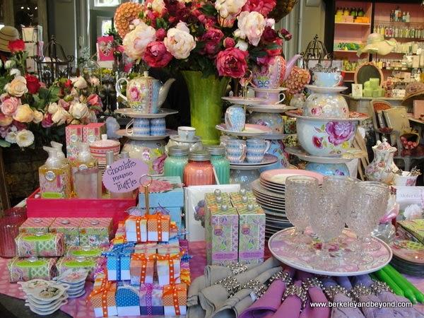 gift shop display at Filoli in Woodside, California