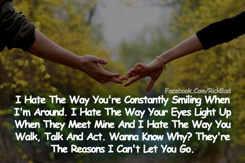 Love Quotes | The Reasons I Can't Let you Go Couple Hand Cute Romantic