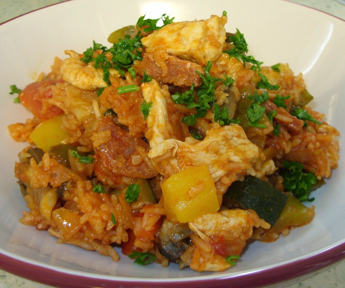 Jenny Eatwell's Rhubarb & Ginger: Chicken and chorizo Jambalaya