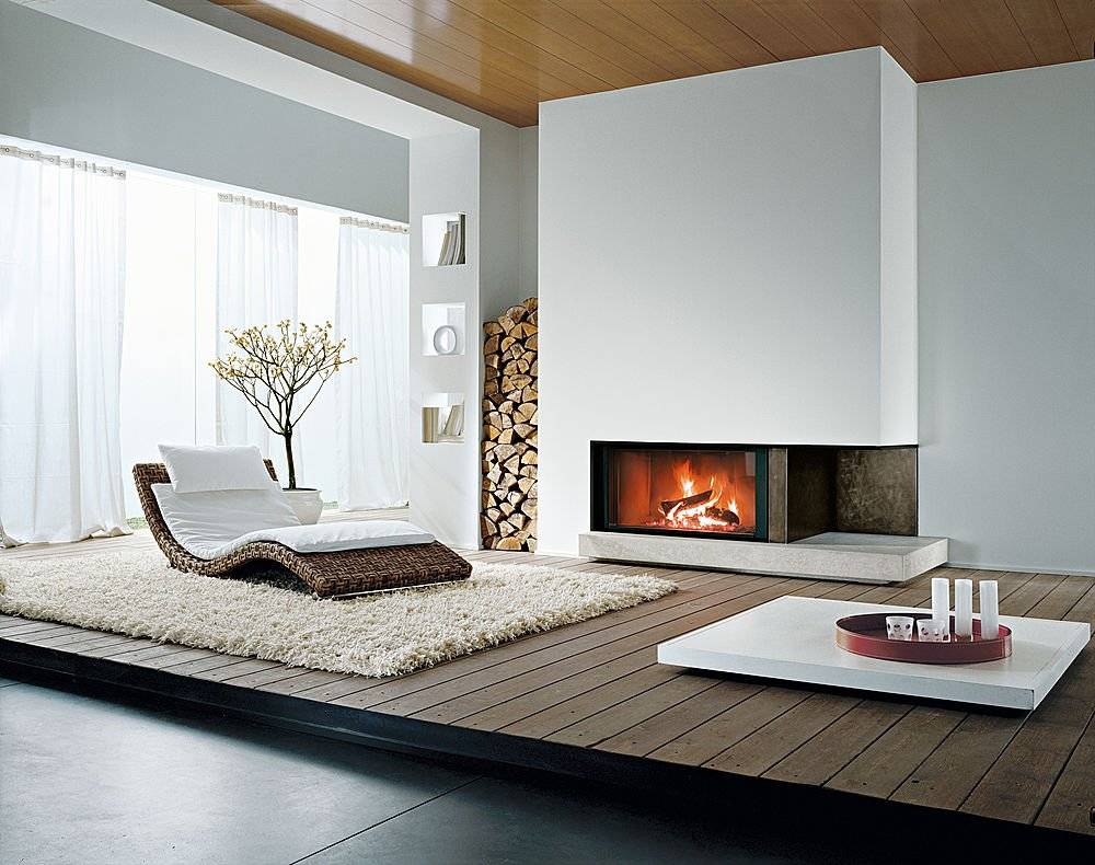 D coration 100 zen chemin es contemporaines - Chimeneas de interior ...