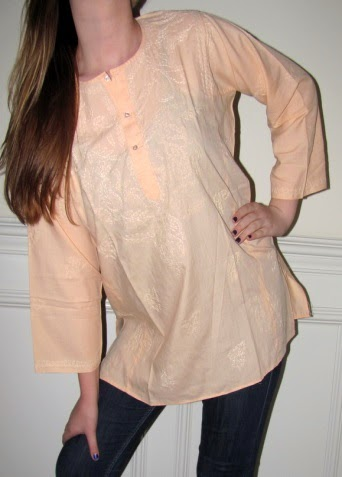 Peach Cotton Tunic $34.99