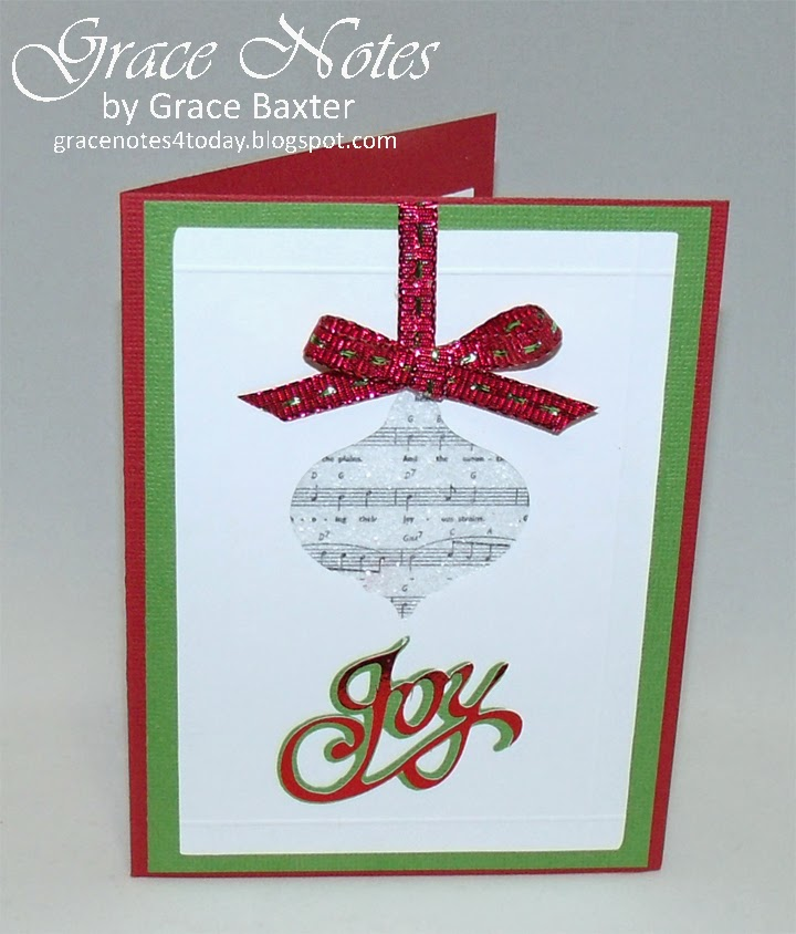 musical ornament card, by Grace Baxter