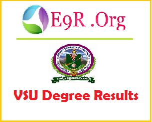 Manabadi VSU Degree BA, B.Com, B.Sc Results 2014