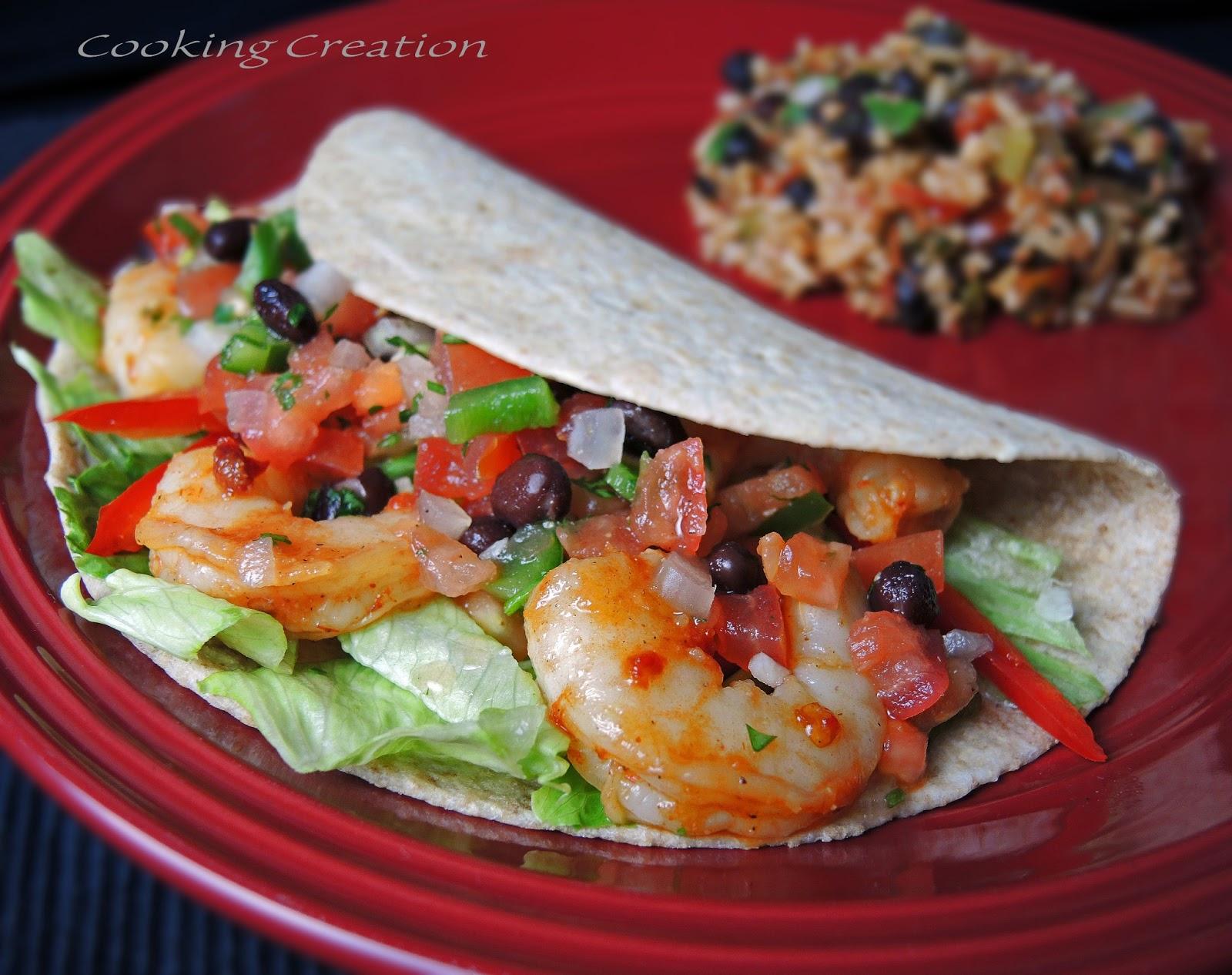 Cooking Creation: Chipotle Shrimp Tacos with Black Bean Pico de Gallo