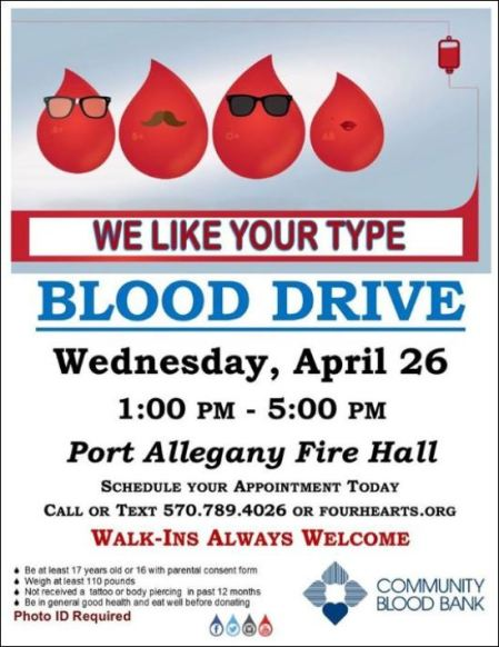 4-26 Blood Drive, Port Allegany