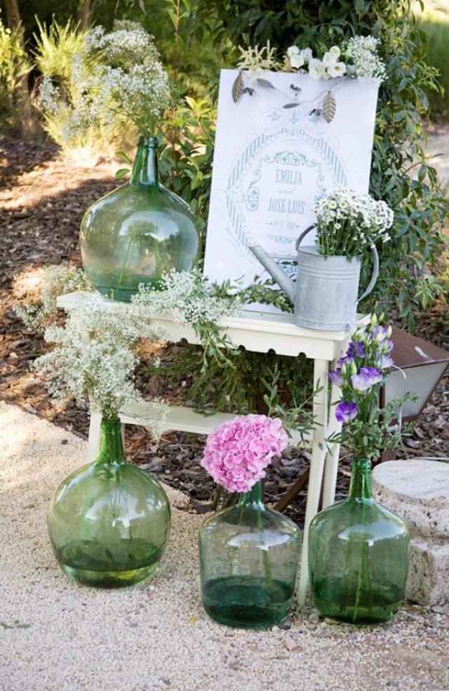 Damajuanas para decorar una boda a todo confetti blog for Decoracion boda exterior