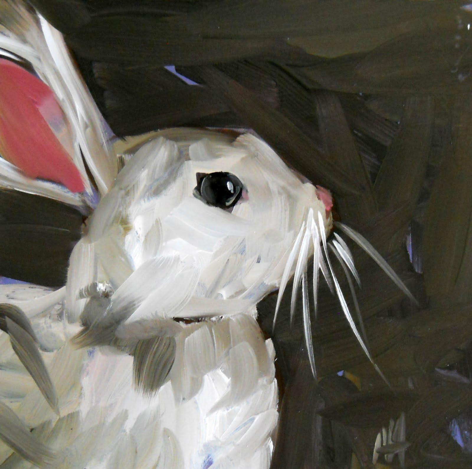 White rabbit painting - photo#17