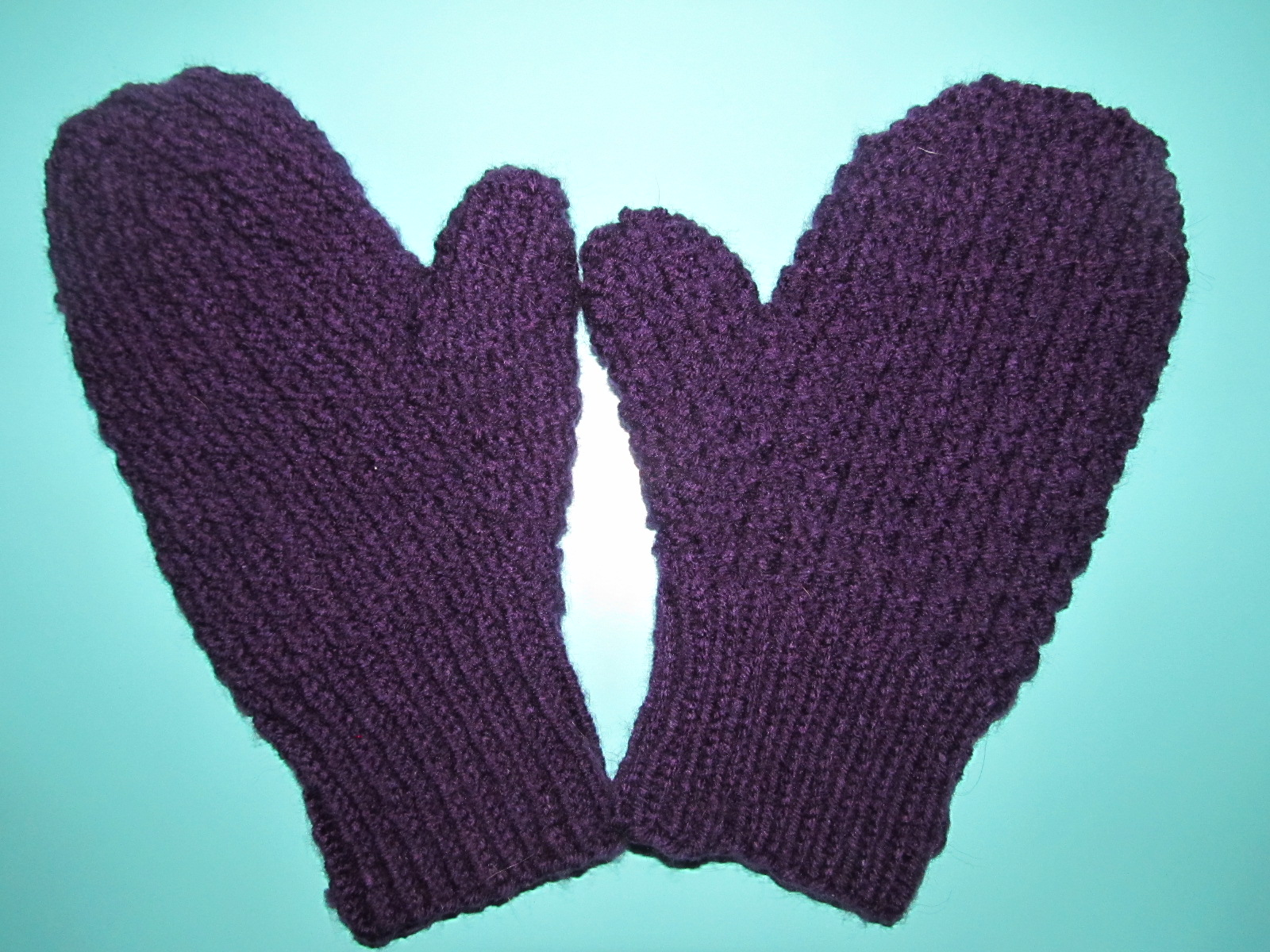 Simply Crochet And Other Crafts Moss Stitch Knit Mittens