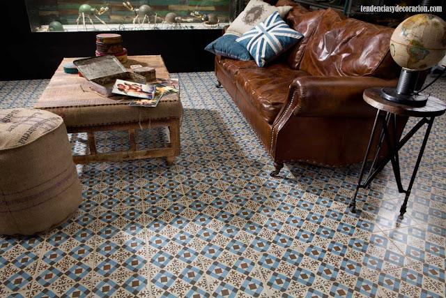 Suelos con mosaicos hidráulicos, una vuelta a lo tradicional