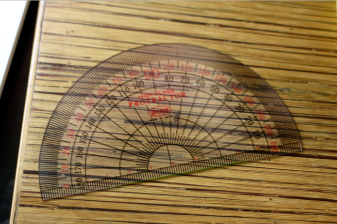 Any type of ruler . I used a Protractor so it wonu0026#39;t be too long ...