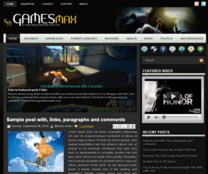 GamesMax Blogger Template