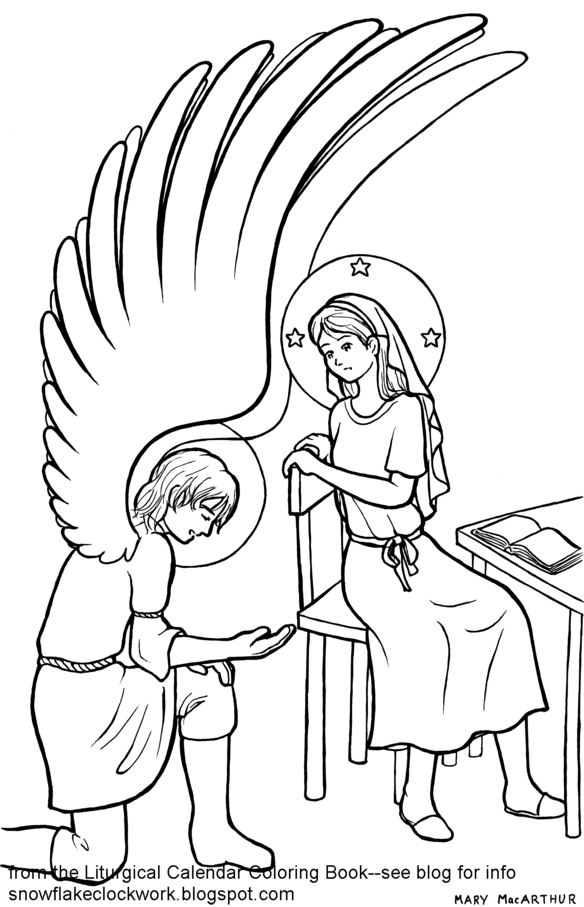 Free Coloring Pages Of The Annunciation
