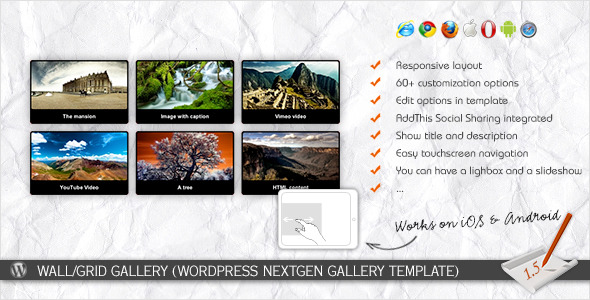 CodeCanyon - Wall/Grid Gallery (WP NextGEN Gallery Template)