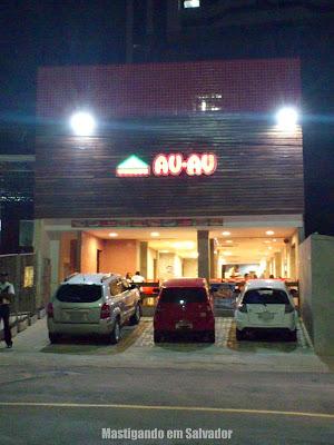 Au-Au Lanches: fachada da loja do Rio Vermelho