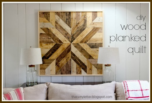 Wood Wall Art Diy that's my letter: diy wood planked quilt