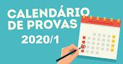 CRONOGRAMA DE PROVAS 2020/1